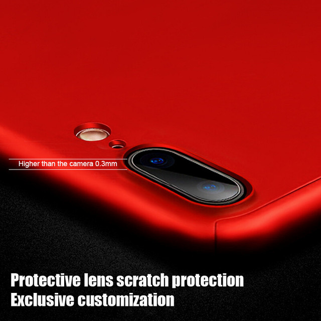 360 Full Cover Phone Case For iPhone X 8 6 6s 7 Plus 11 Pro Max PC Protective Cover For iPhone 7 5 5s XS MAX XR Case With Glass 4