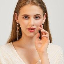 Korea Super Fairy Long Tassel Earrings Sterling Silver Simple Pearl earrings for women  dangle