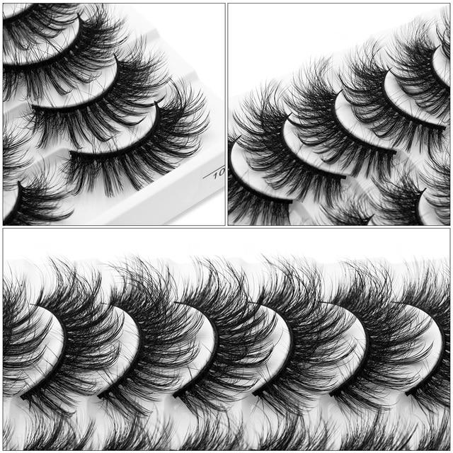 SEXYSHEEP 5/10 pair 3D Faux Mink Lashes Natural length Ru False Eyelashes Volume Fake Lashes Makeup Extension Eyelashes 2