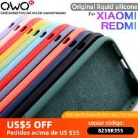Original samt Flüssigkeit Silikon Fall Für Xiaomi Redmi Hinweis 10 Pro Max 6 7 8 9S 9 K30 Mi 9 10 A3 9T Hinweis 10 Lite Fall Zurück Abdeckung