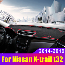 For Nissan X-trail X trail t32 2014-  2019 Car Dashboard Cover Avoid light Pad Instrument Panel Mat Carpets Accessories car dashboard mat cover pad sun shade instrument covers protective carpet for nissan rogue x trail xtrail x trail t32 2014 2018