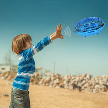 Flying Helicopter Mini drone UFO RC Drone Infraed Induction Aircraft Quadcopter
