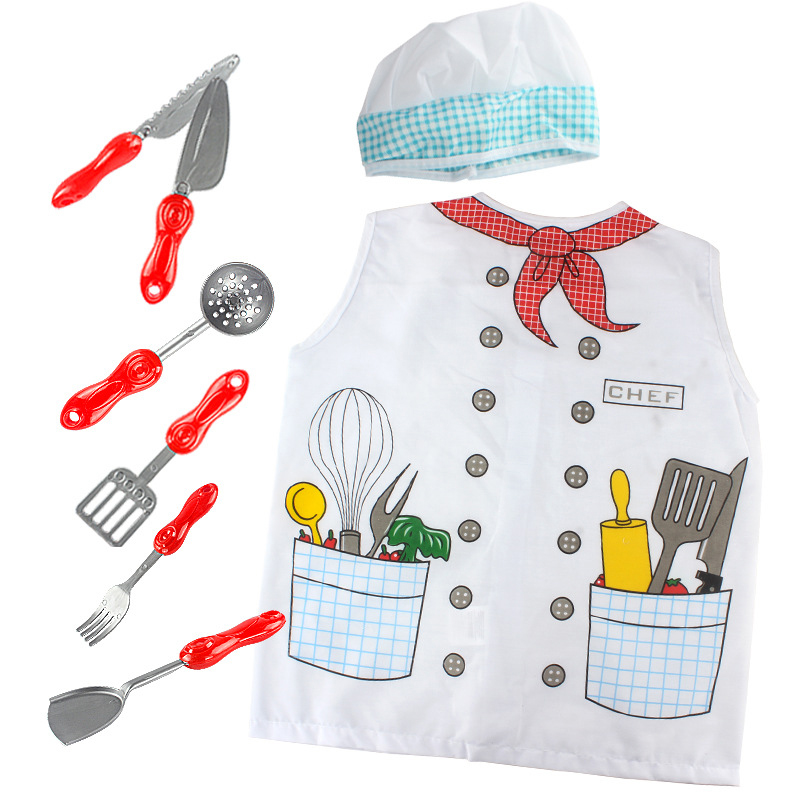 Children'S Chef Role Playing Surrounding Life Engineering Doctor Pirate Girl Clothes 3 To 7 Years Old Party Toy Birthday Gift
