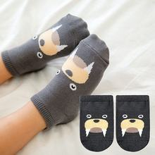 1Pair Children's Socks Spring And Summer Thick Cotton Cute Cartoon Anti-skid Breathable Floor Baby Short Socks(China)