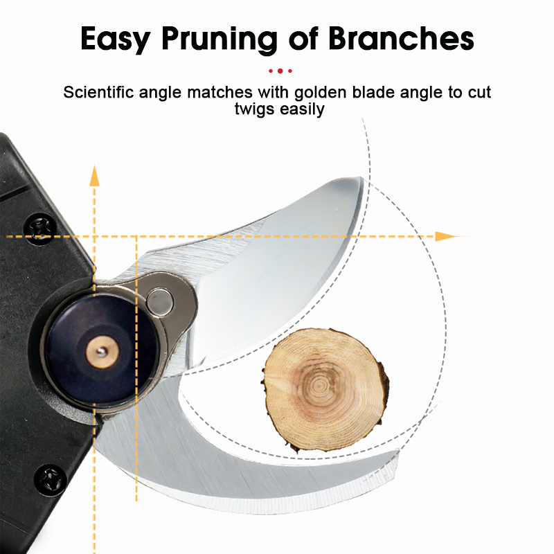 Tools : 36VF Cordless Pruner Lithium-ion Pruning Shear Efficient Fruit Tree Bonsai Pruning Electric Tree Branches Cutter Landscaping