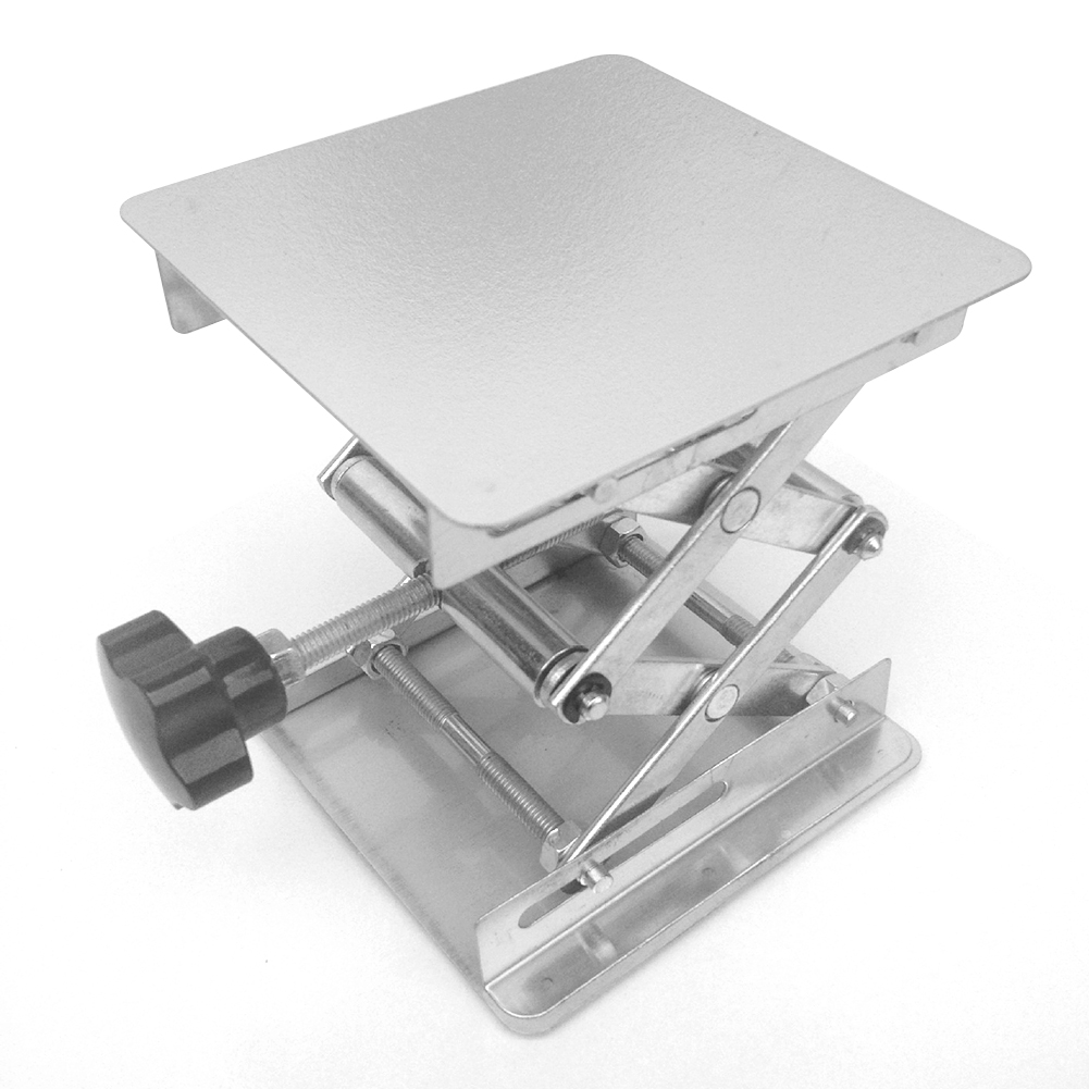Laboratory Height Stainless Steel Woodworking <font><b>Lifter</b></font> Lifting Platform Shank Drill Table Adjustable <font><b>Router</b></font> image