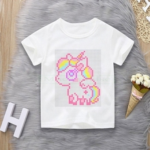 t-shirts for girls with unicorn Boys cotton t shirt kids Children's Cartoon  Tshirt Adolescent Top Baby t-shirt with unicorn 12T