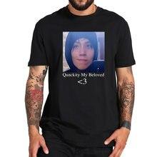 Quackity meu amado t camisa 100% algodão engraçado geek casual topos t homme tamanho da ue respirável tshirt