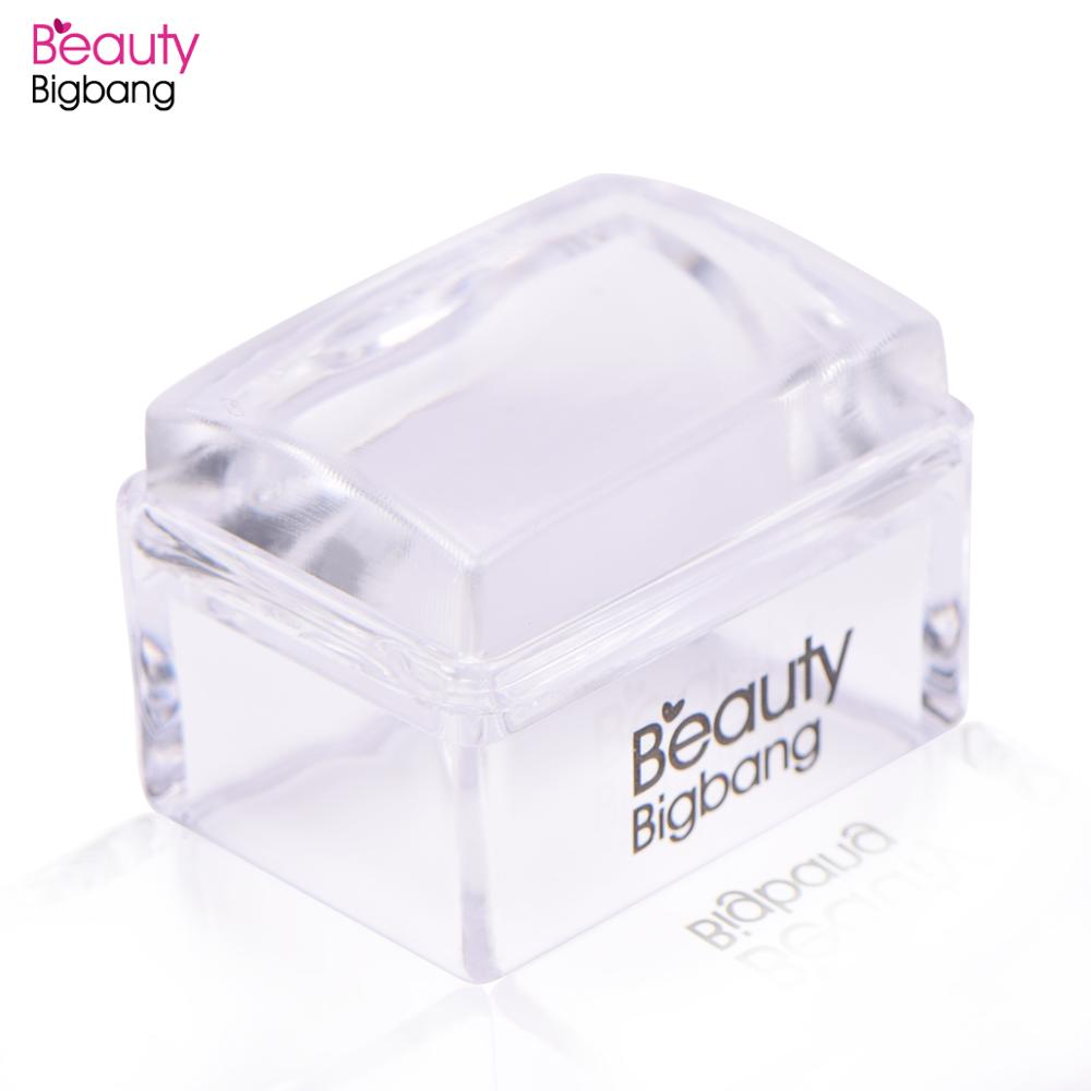 BeautyBigBang Silicone Nail Stamper Rectangle Seal/plate Printing Scraper Clear Handle Stamping Tool Manicure Nail Stamper Kit