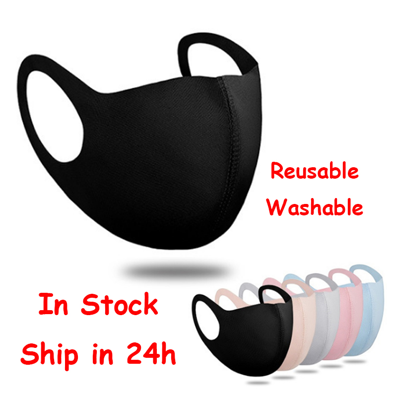 Black Mouth Mask Anti Dust Mask Activated Carbon Windproof Mouth-muffle Face Masks Fast Ship