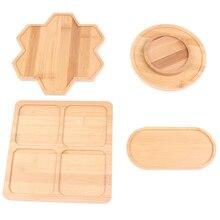 Бамбук круглый квадрат чаши тарелки для суккулентов горшки подносы подставка сад декор дом украшение поделки