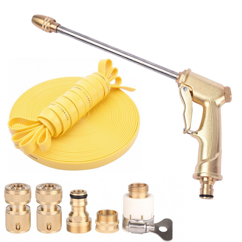 OPQR Car Wash Gun High Pressure Power Water Jet Washer Cleaner Watering Lawn Garden Brass Metal  Nozzle Garden Long Rod