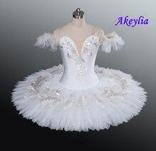 Cigno Bianco Tutu Donne Lago Dei Cigni Pancake Ragazze di Balletto Professionale Tutu Adulto Tutu Bianco per La Concorrenza Della Fase di Ballo Costumi