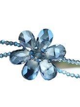 Подвеска с синим кристаллом letsfun длинное ожерелье на свитер