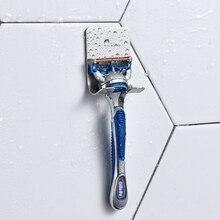 1 шт. Бритва мужская стойка для хранения бритвы 304 нержавеющая сталь держатель для хранения бритья настенный держатель для ванной комнаты из вискозы