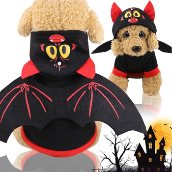 New Bat Wings Cat Dog Clothes For Small Large Dogs Halloween Christmas Party Dog Sweatshirt Pet Dog Cat Winter Funny Costume image