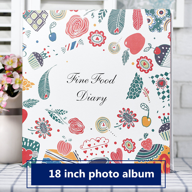 Image 5 - 2018 new Creative pu leather coated family self adhesive photo 