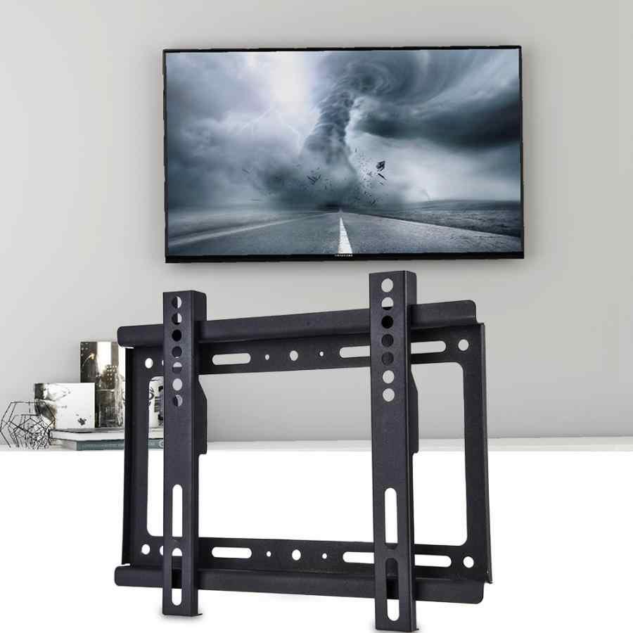 Smart TV Wall Mount Bracket สำหรับเอียงทีวี 14-40 นิ้ว LCD/LED ทีวี 55 โหลดความจุปอนด์ TV Wall Mount Bracket