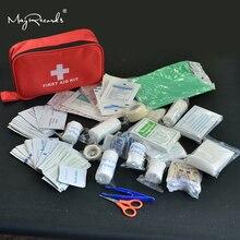 180 unidades/pacote kit de primeiros socorros viagem seguro acampamento caminhadas médica kit de emergência tratamento conjunto ao ar livre sobrevivência selvagem
