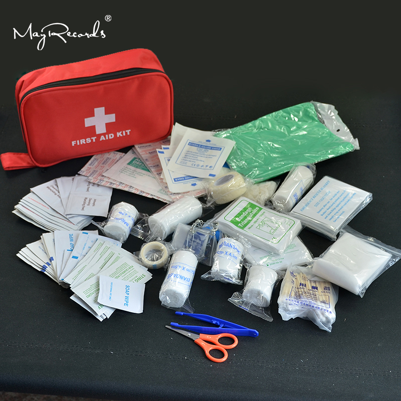 180pcs/pack Safe Travel First Aid Kit Camping Hiking Medical Emergency Kit Treatment Pack Set Outdoor Wilderness Survival(China)