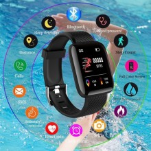 116plus Smart Bracelet Waterproof Fitness Tracker Watch Heart Rate Blood Pressure Monitor Pedometer Smart Band Women Men 116plus smart bracelet waterproof fitness tracker watch heart rate blood pressure monitor pedometer smart band women men