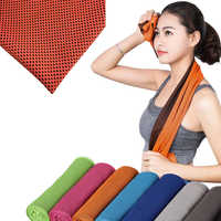 1pc Multi Colors Summer Cooling Sports Towel Microfiber Fabric Sweat-Dry Towels Fit For Running Fitness Climbing Outdoor