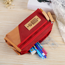 New Canvas Student School&office Supplies Stationery Gift Promotion School Cute Pencil Case Pencil Bag for boy and girl Gifts стоимость
