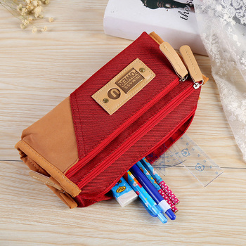 New Canvas Student School&office Supplies Stationery Gift Promotion School Cute Pencil Case Pencil Bag for boy and girl Gifts