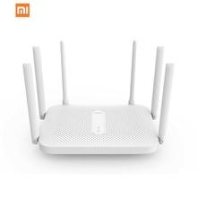 Xiaomi Redmi Router AC2100 Gigabit 2 4G 5 0GHz wzmocnienie dwupasmowy bezprzewodowy Repeater Wifi 6 anteny o wysokim zysku szersze tanie tanio wireless Wi-fi 802 11g Firewall 28MB 128MB 2 4GHz and 5GH xiaomi Router