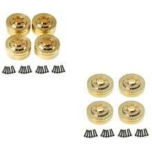 Contrepoids interne en laiton 4 pièces pour jantes 1.9 2.2 pouces axiales SCX10 90046 D90 TF2 Traxxas TRX4