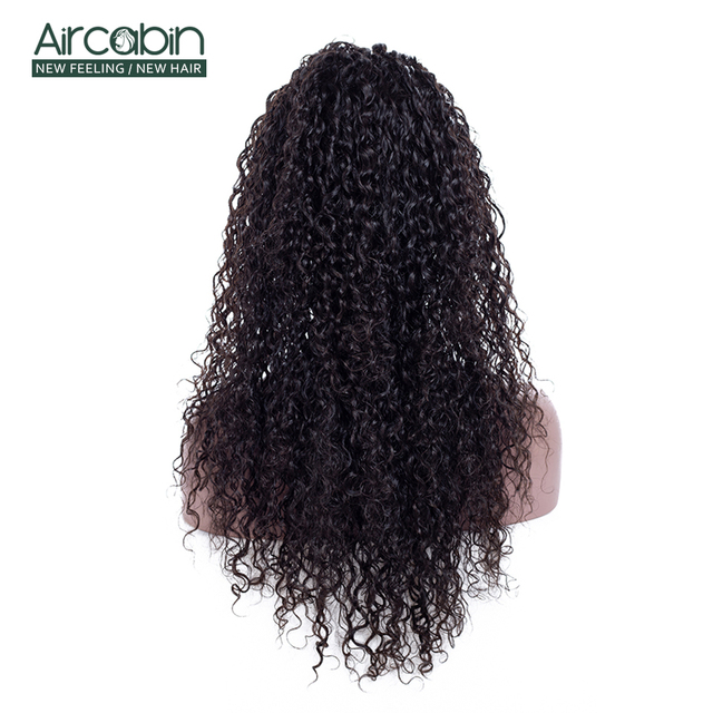 "AirCabin 13x4 Brazilian Kinky Curly Lace Front Wigs 12""-24"" Pre-Plucked Remy Hair Wig with Baby Hair Lace Front Human Hair Wigs 4"