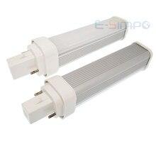 1pc LED PLC light 9W 11W 2 pin G24D led PL lamp 4pin G24Q replace 2U CFL CE RoHS cold white 4000K 3000K LED horizontal plug bulb
