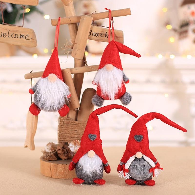 Swedish Santa Gnome Christmas Ornaments Long Hat Gnome Doll Christmas Decoration Doll Christmas Gift
