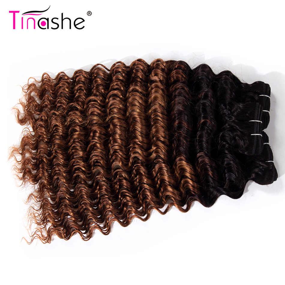 Tinashe Haar 1B 30 Bundels Braziliaanse Haar Weefsel Bundels Remy Human Hair Extension Diepe Golf Bundels Gekleurde Ombre 3 Bundels