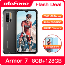 Ulefone Armor 7 IP68 Waterproof Rugged Smartphone Android 9.0 NFC Helio P90 Octa Core 6.3'' 8GB+128G