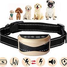 Водонепроницаемый перезаряжаемый ошейник для собак с защитой от лай Регулируемый 0-7 уровней чувствительности вибрирующий Стоп лай тренировочные ошейники для собак