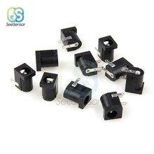 10 pièces/lot 5.5x2.1mm PCB Mount femelle prise d'alimentation cc prise connecteur noir 5.5*2.1MM