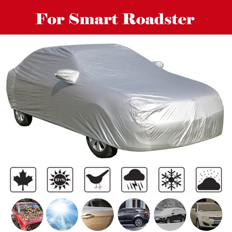 Car cover tent waterproof snowproof all weather in winter snow rain Awning for car hatchback sedan suv For Smart Roadster image