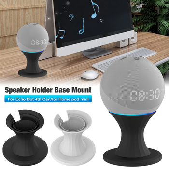 Speaker Mount Stand For Home Pod Mini /Echo Dot 4th Gen Voice Assistants Holder Kitchen Bedroom Study Audio Holder Accessories image