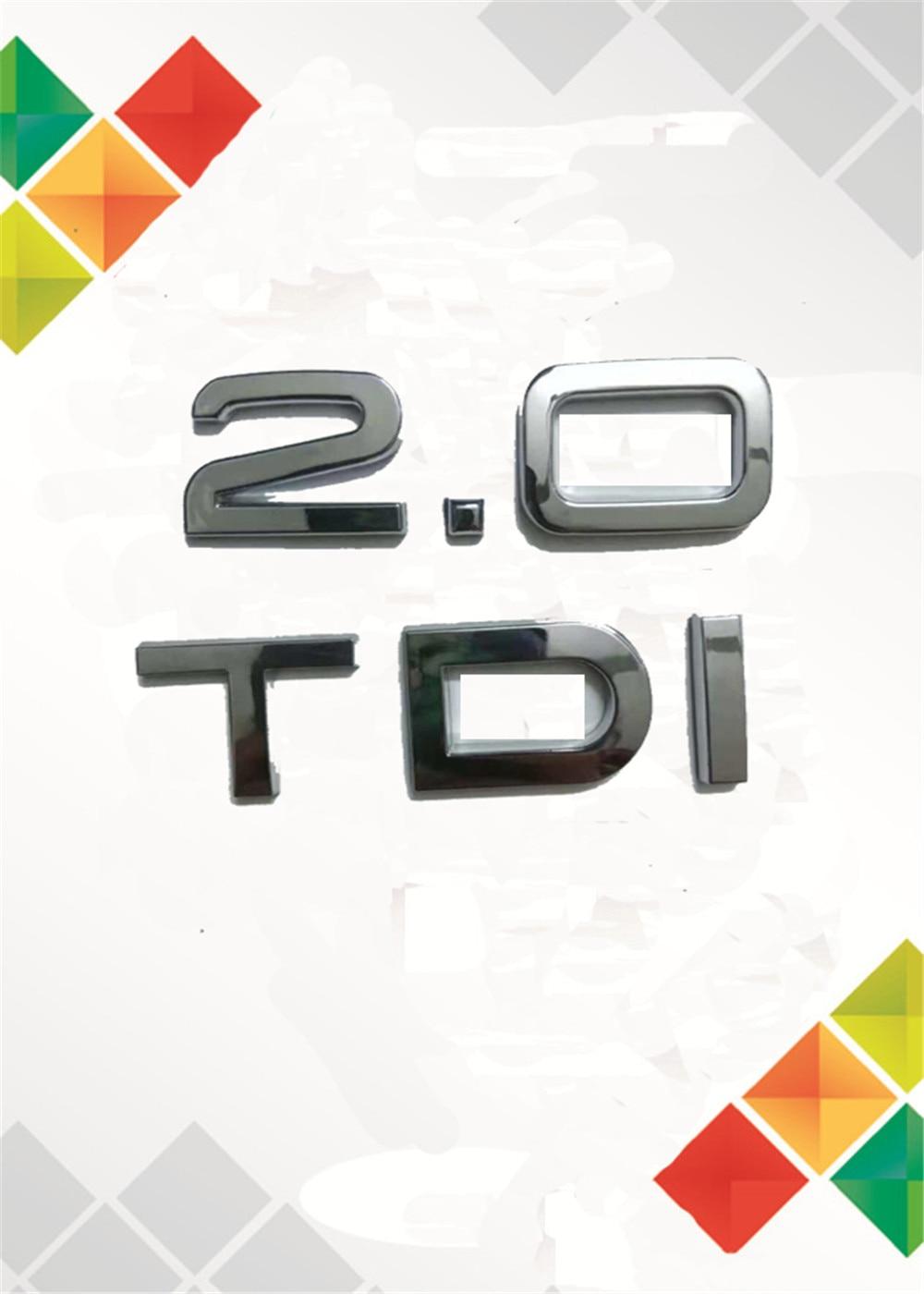2X TDI Sport Edition Silver Sticker Badge 3D Logo Emblem Top Stock VW Audi Seat