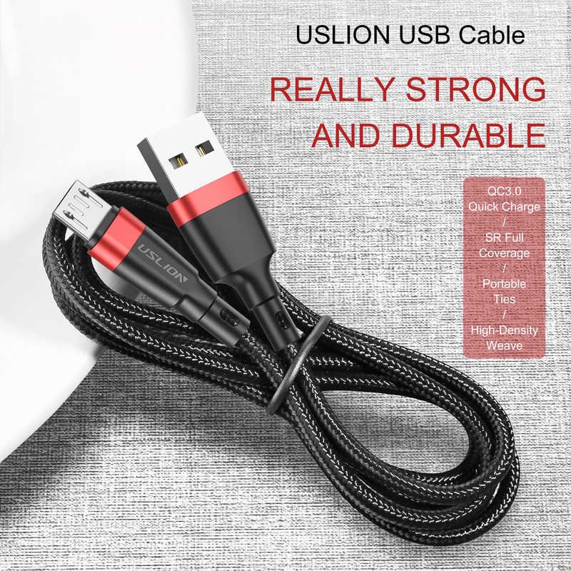 USLION Micro USB Kabel 3A Schnelle Lade USB Datenkabel Kabel für Samsung Xiaomi Redmi Hinweis 4 5 Android Microusb schnelle Ladung 3M 2M