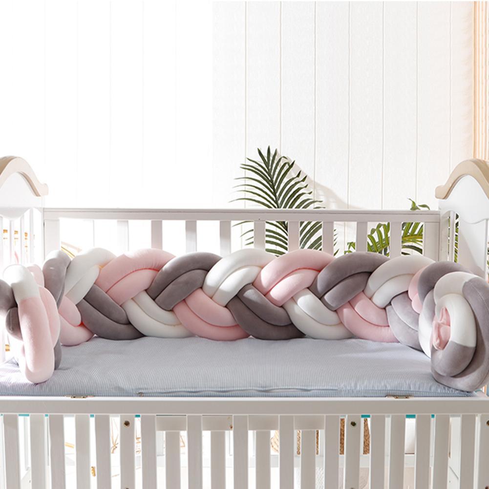 Bébé pare-chocs lit tresse noeud oreiller coussin pare-chocs pour bébé Bebe berceau protecteur lit bébé pare-chocs chambre décor