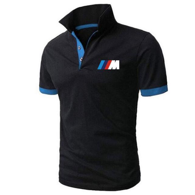Summer BMW short Sleeve Polo Shirt men polo shirts casual Slim Solid Printing business men's polo shirts men's clothing