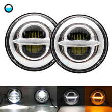 "Newest 2pcs 7Inch 50W LED Headlamps For Jeep Wrangler lada niva 4x4 For LADA VAZ 2101 7"" LED Headlight.(China)"