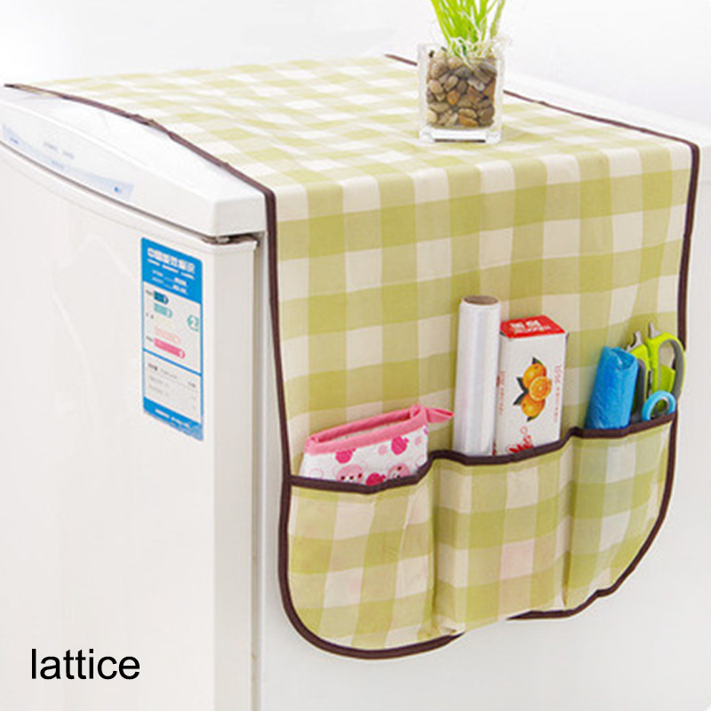 Multifunction Freezer Top Bags Non-woven Storage Bag Washing Machine Covers Waterproof Home Accessories Refrigerator Dust Cover image