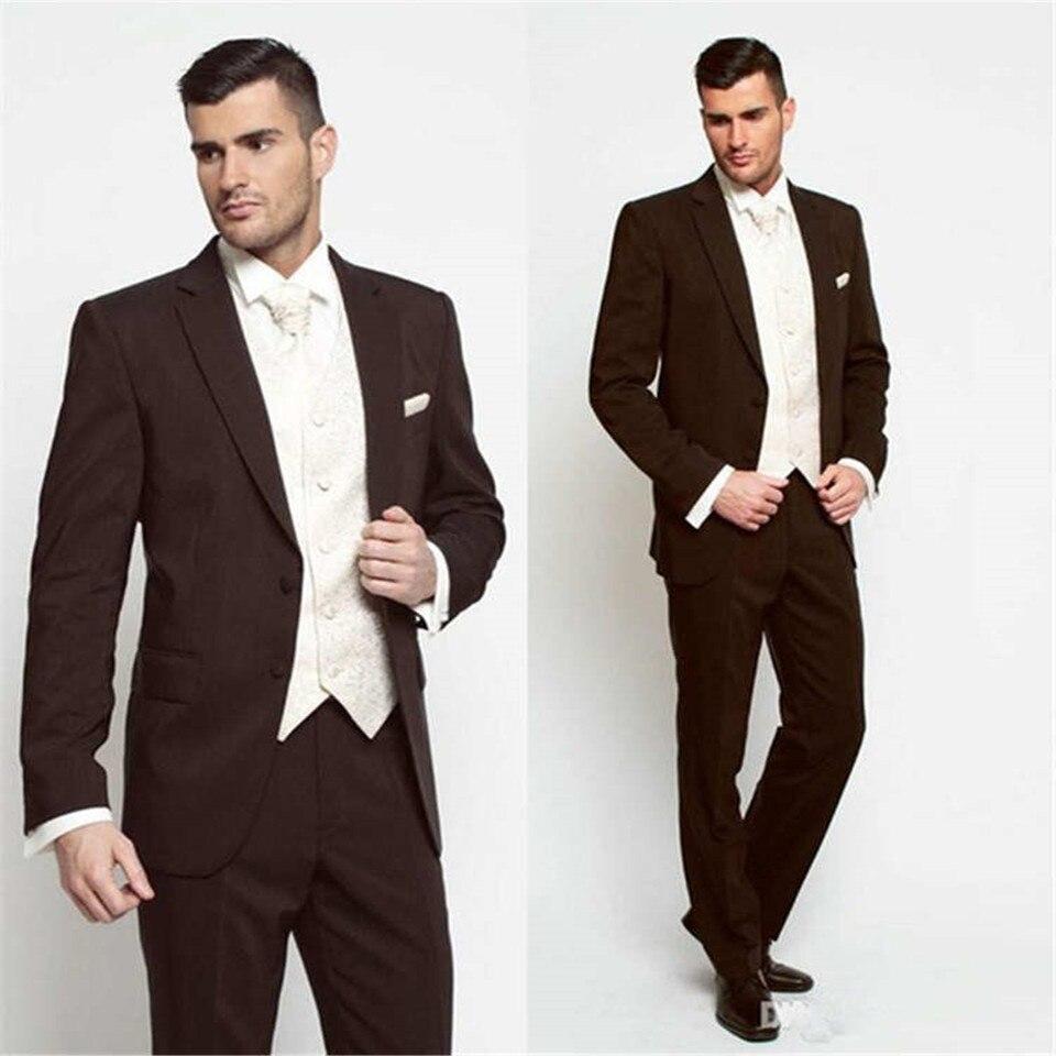 New Classic Men's Suit Smolking Noivo Terno Slim Fit Easculino Evening Suits For Men Bridegroom Tuxedos Groomsmen Peaked Lapel F