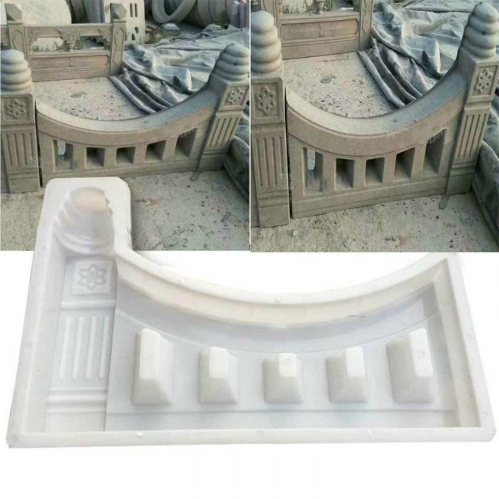 61x41x6cm Decor Garden Pool Building Concrete Mold Fence Hollow Plastic Brick Mould White Antique Courtyard Lawn Cement Mold
