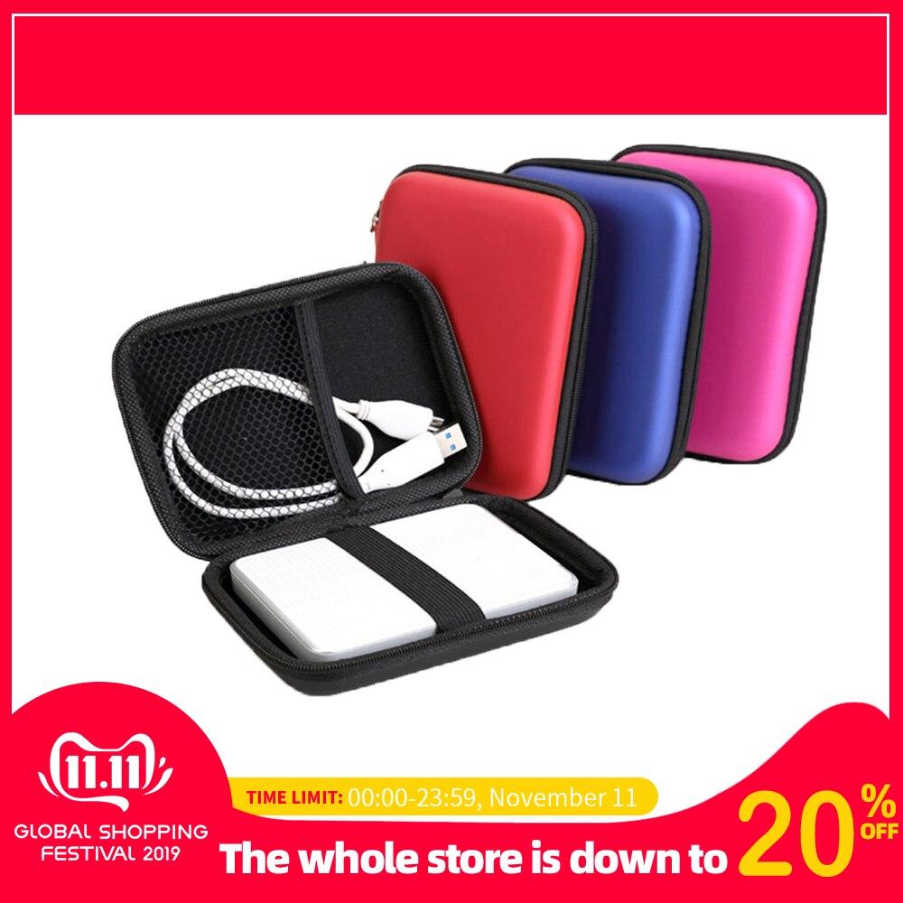 2.5'' Portable Hard Disk Bag Case Zipper for External Hard Drive Disk/Electronics Cable Organizer Bag/powerbank /Mp5 HDD Box bag