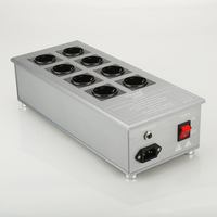 HiFi Power Filter Plant Schuko Socket 8Ways AC Power Conditioner Audiophile Power Purifier with 8 EU Outlets
