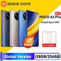 Глобальная версия POCO X3 Pro 6GB 128GB /8GB 256GB NFC Смартфон Snapdragon 860 33W Quad AI камера 120Hz DotDisplay 5160mAh